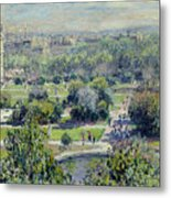 View Of The Tuileries Gardens Metal Print by Claude Monet