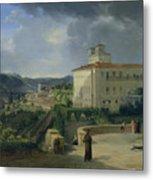View Of The Villa Medici In Rome Metal Print