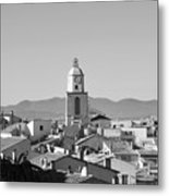 View Of The Village And The Clocher Of Saint-tropez Metal Print