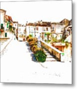 View Of The Village Metal Print