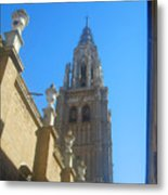 View Of Toledo Cathedral In Sunny Day, Spain. Metal Print