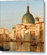 View Of Venice With San Simeone Piccolo Metal Print