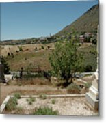 View Of Virginia City Nv From The Final Resting Place Metal Print