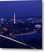 View Of Washington D.c. At Night Metal Print