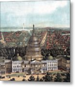 View Of Washington Dc Metal Print
