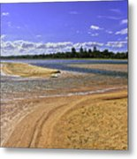 View Of Wollumboola Lake From Sand Dunes Metal Print