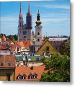 View Of Zagreb Metal Print