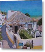 View On Obidos Metal Print
