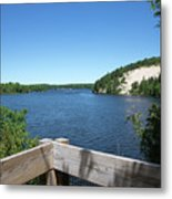 View On The Au Sable Metal Print
