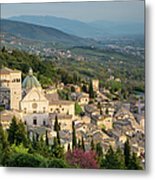 View Over Assisi Metal Print