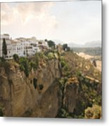 View Over The Tajo Gorge Ronda Home Of Bullfighting Metal Print