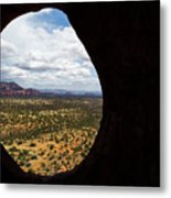 View Through A Portal, Sedona, Arizona Metal Print