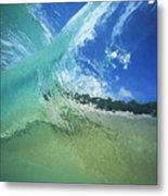 View Through Wave Metal Print