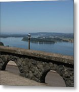 View To The West Of Crown Point Metal Print