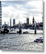 View To Westminster London Metal Print