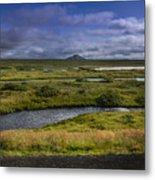 View Towards Lake Myvatn Iceland Metal Print