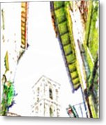 View With Bell Tower Metal Print