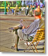Viewing Man Metal Print