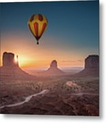 Viewing Sunrise At Monument Valley Metal Print