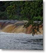 Viewing Tahquamenon Lower Falls Upper Peninsula Michigan 02 Metal Print
