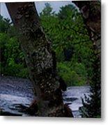 Viewing Tahquamenon Lower Falls Upper Peninsula Michigan Panorama 02 Metal Print