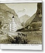 Views Of Switzerland And The Border Of Italy Metal Print
