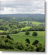 View Of The Surrey Hills From Newlands Corner Metal Print