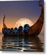 Viking Boat Metal Print
