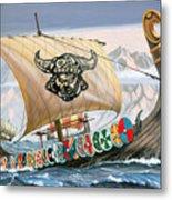 Viking Ship Metal Print