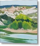 Village Above L'ardeche  Metal Print