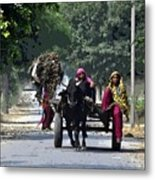 Village And The Women Metal Print