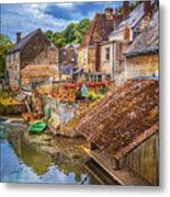Village At The River Metal Print