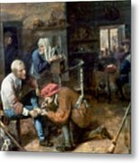 Village Barber-surgeon Metal Print