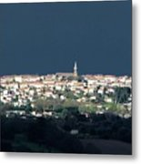 Village Before The Storm Metal Print
