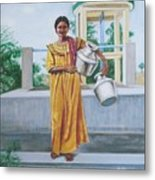 Village Belle Metal Print