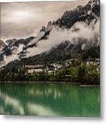 Village By The Lake Metal Print