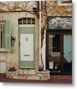 French Village Doors Metal Print