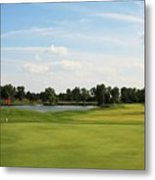 Village Greens Golf Course Hole 17 Metal Print