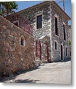 Village In Greece Metal Print