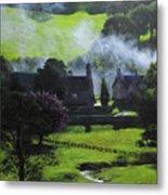 Village In North Wales Metal Print