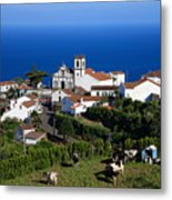 Village In The Azores Metal Print