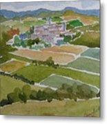 Village In Tuscany Metal Print