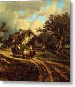 Village Landscape 1844 Metal Print
