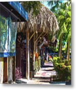 Village Life II - Siesta Key Metal Print