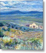 Village Mission Near Taos Metal Print