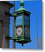 Village Of Elmore Clock-vertical Metal Print