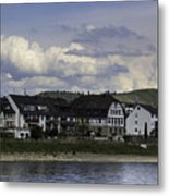 Village Of Spay And Marksburg Castle Metal Print
