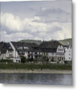 Village Of Spay Germany And Marksburg Castle Metal Print