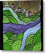 Village On The Hill Metal Print