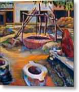 Village Well Metal Print
